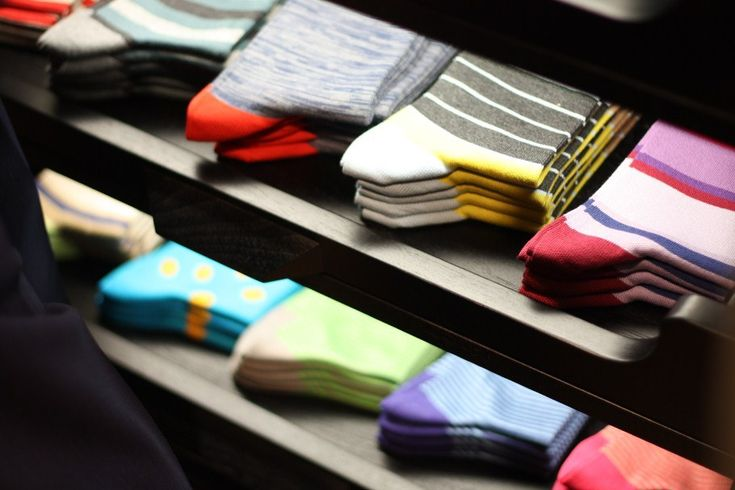 Paul Smith socks in all the colours of the rainbow!