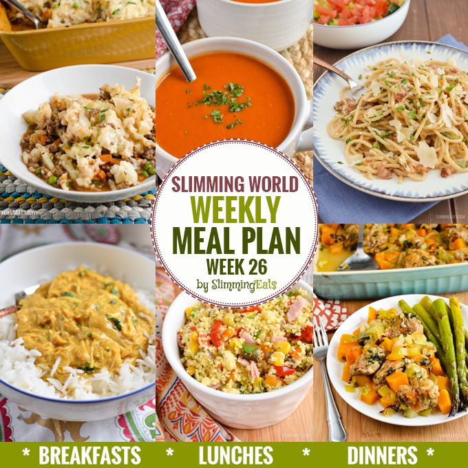 Slimming Eats Weekly Meal Plan - Week 26 - Slimming World - taking the work out of planning so that you can just cook and enjoy the food.
