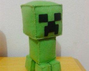 Boneco Minecraft em feltro - Creeper