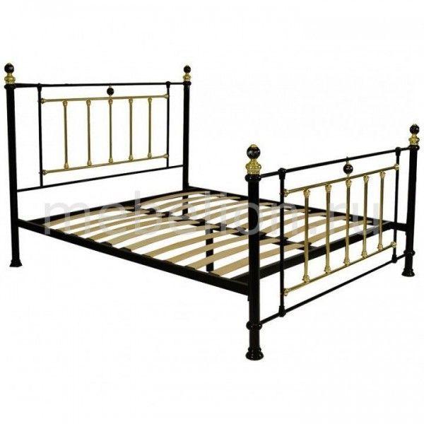 Кровать двуспальная 6153 золотой, черный - мебель в СПб