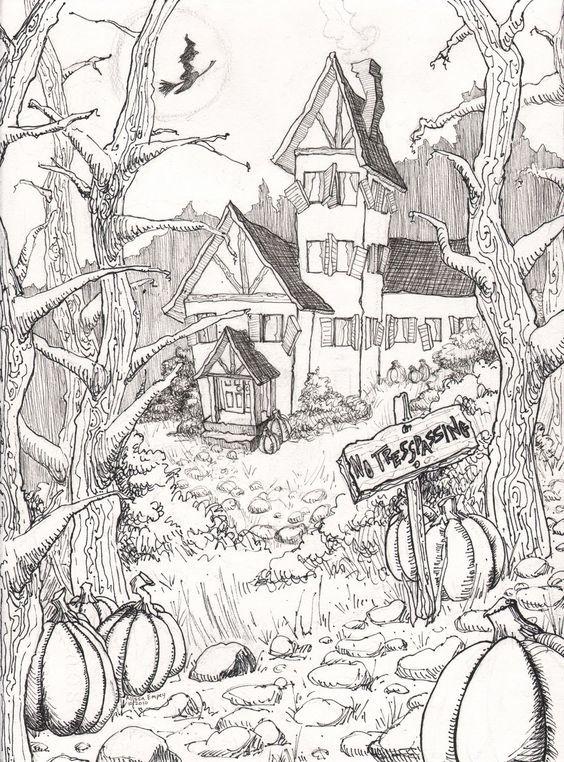 24 besten Halloween mural ideas Bilder auf Pinterest   Malbücher ...