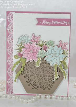 Crafts Bouquet: Succulent Garden Mother's Day Card and Gift Box