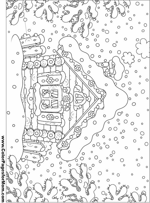 Adult houses Coloring Pages Printable | House Coloring Page 17
