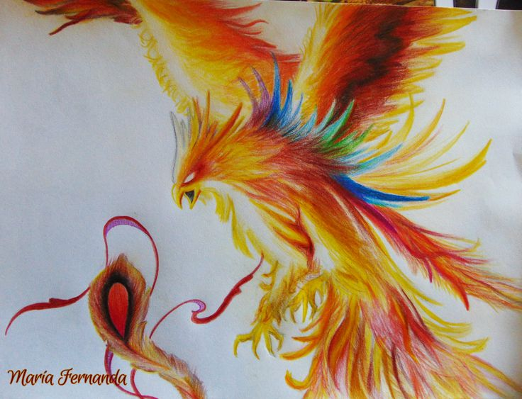 #drawing #colors #art #phoenix #artists  Obra: Danza de fuego en el templo del sol (Fire dance at temple of the sun)