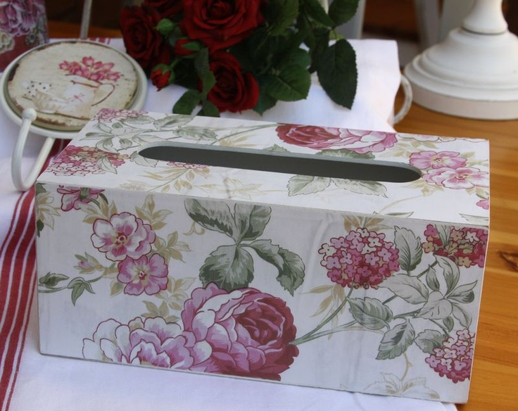Rose pink Tissue Box cover –wooden construction