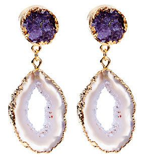 The Loupe | Designer Jewelry, Fashion Jewelry: Amazing Dara Ettinger Antonia Drutzy and Geode Earrings