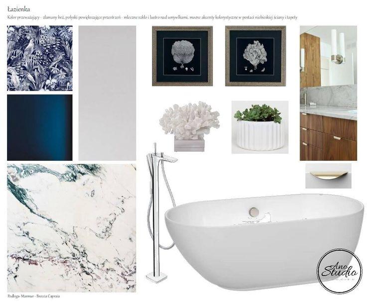 Marmur we wnętrzu - łazienka - Ano Studio - Architekt Wnętrz
