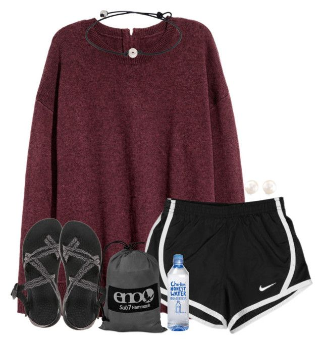 ask me something! anything! by madiweeksss ❤ liked on Polyvore featuring NIKE, Chaco, ENO and Anne Sisteron