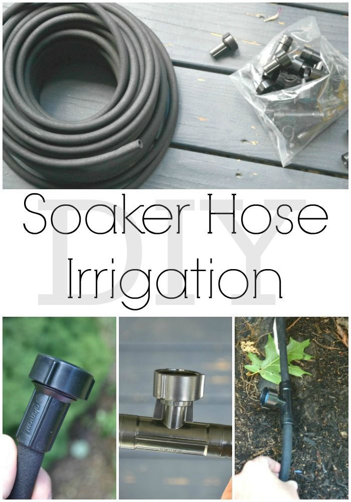 How to use soaker hose irrigation in your garden. | http://iamahomemaker.com | soaker…