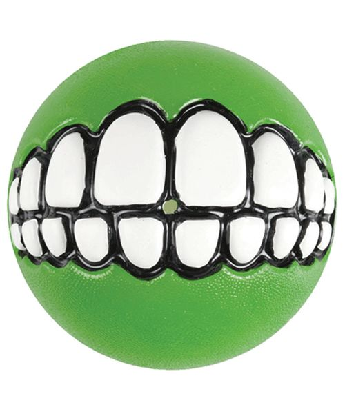ROGZ GRINZ BALL - LIME. Available from www.nuzzle.co.za