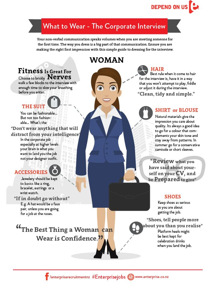 woman infographicenterprise what to wear to work