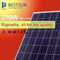 High Použiteľnosť BS-270W 270W polykryštalické fotovoltaické solárne panely, priamy predaj z továrne