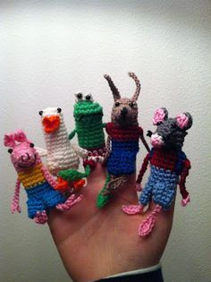 Vingerpop vingerpoppetjes kikker en zijn vriendjes haken