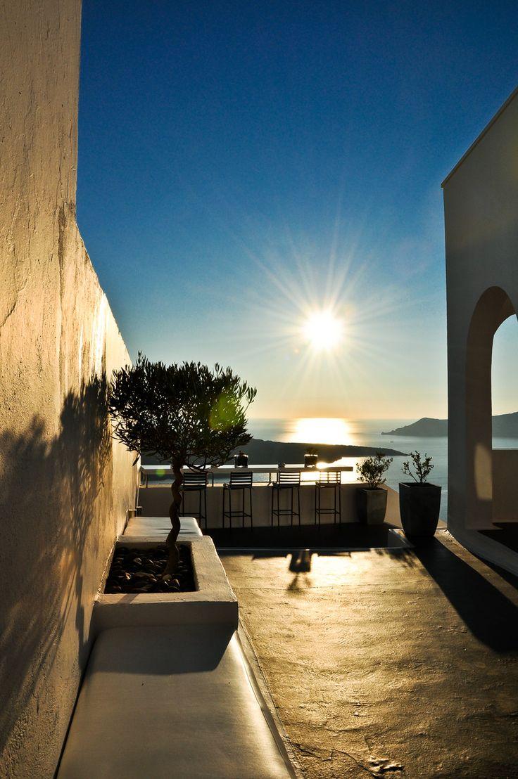 Setting Sun in Fira, Santorini