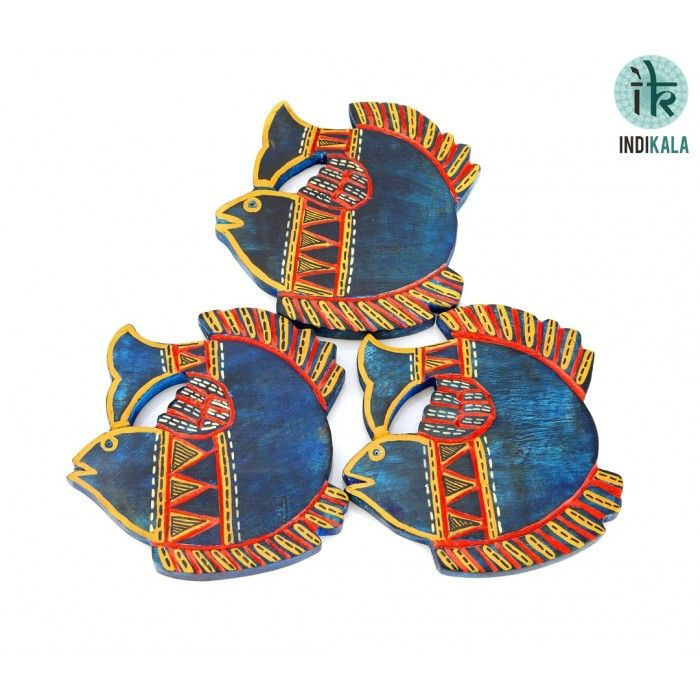 Name : Blue Fish Shaped Coasters (Set of 3) Price : Rs 599/- Buy Now at : http://www.indikala.com/lamps-coasters/blue-fish-shaped-coastersset-of-3.html #Ethnic #Luxury #BuyOnline #India