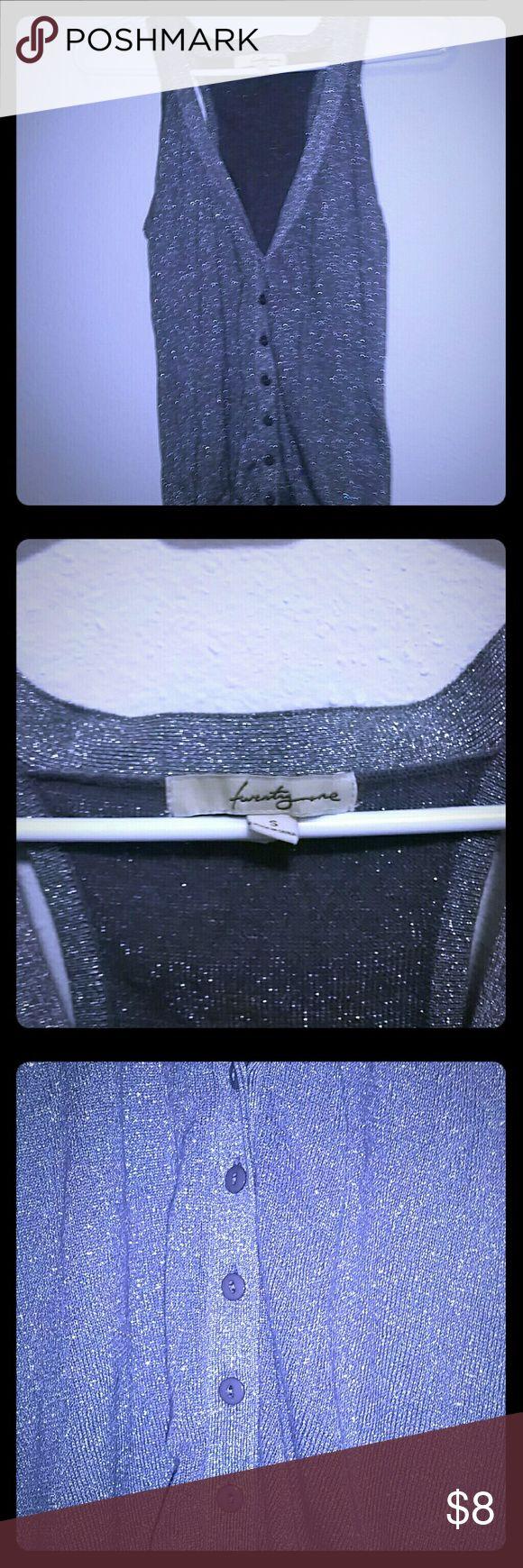 Silver metallic vest Silver metallic vest, worn a few times, has all the otiginal buttons twenty one Jackets & Coats Vests