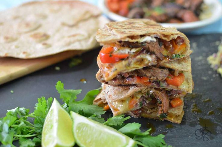 These Spicy Fajita Steak Quesadillas recipe is exactly what you're looking for! Tender Steak, Gooey Cheese, and flavours that will blow your mind!