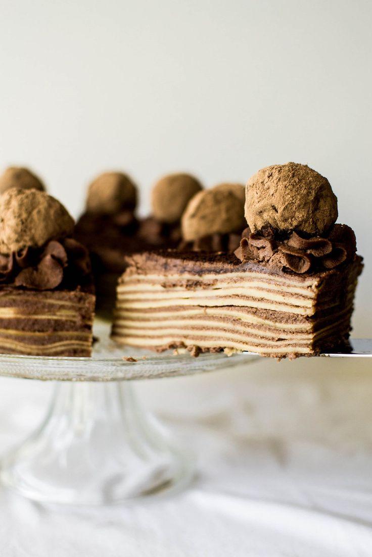 Tiramisu Crepe Cake from @butterxbrioche