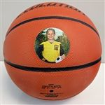 Direct UV printed Basket Ball with photo - printed with LogoJET's UVx60-XL printer.