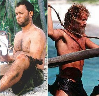 "Tom Hanks - ""Cast Away"" shows what diet and exercise can do for you! Raw fish and Coconut milk ! Thanks Tom"