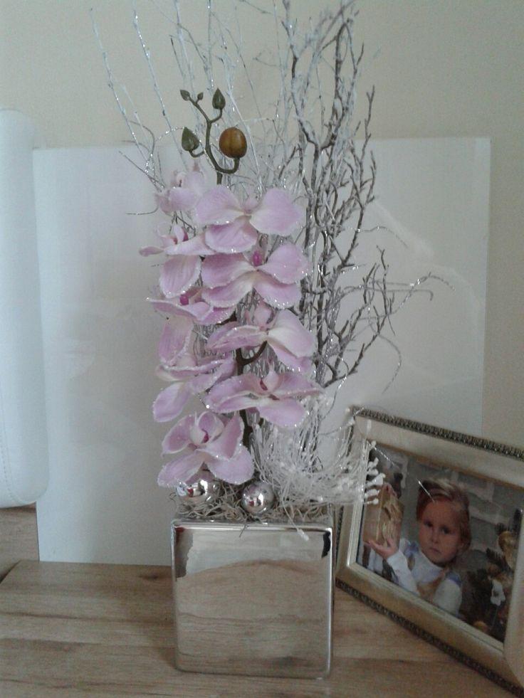 Luxusní+vánoční+dekorace+s+orchidejí+Luxusní+vánoční+dekorace.+Výška+55cm,délka+20cm,šířka+18cm.