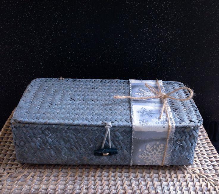 Bamboo basket #greek #christmas #gift # packaging