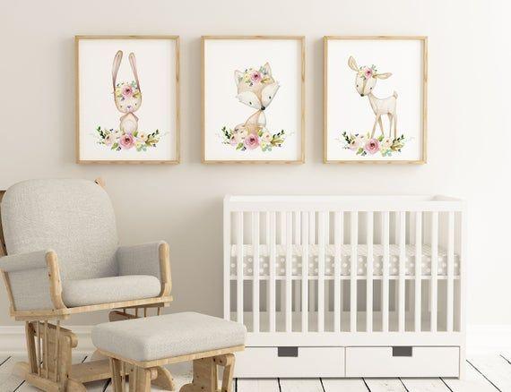 Nursery Wall Art Woodland