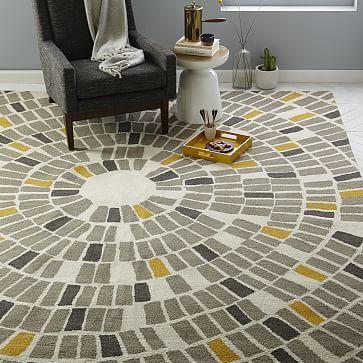 Mosaic Circle Wool Rug #westelm