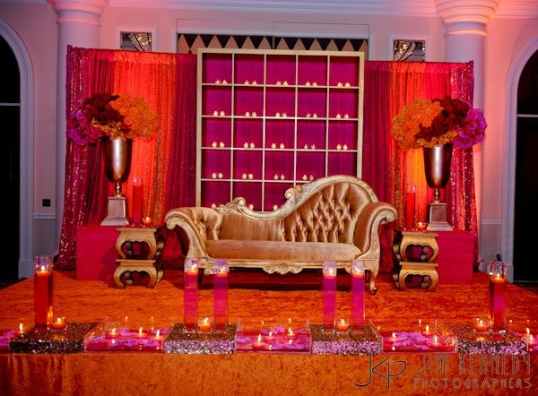 Indian weddings indian and indian wedding receptions on for Wedding home decoration ideas