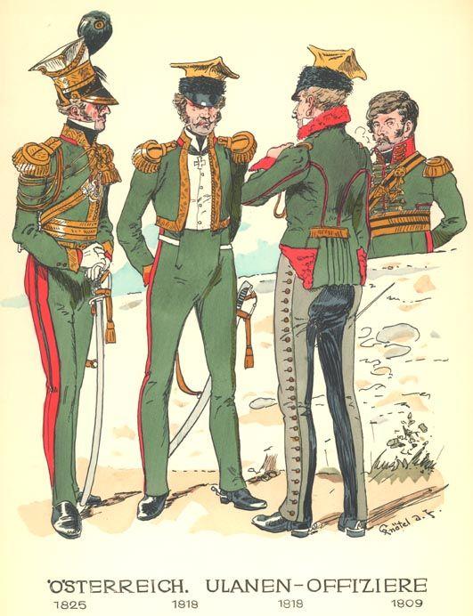 Rheinbund - Austrian Uhlan Uniforms - 1809 - 1825