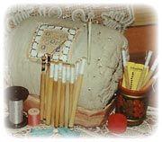 Подушка-валик для плетения кружев
