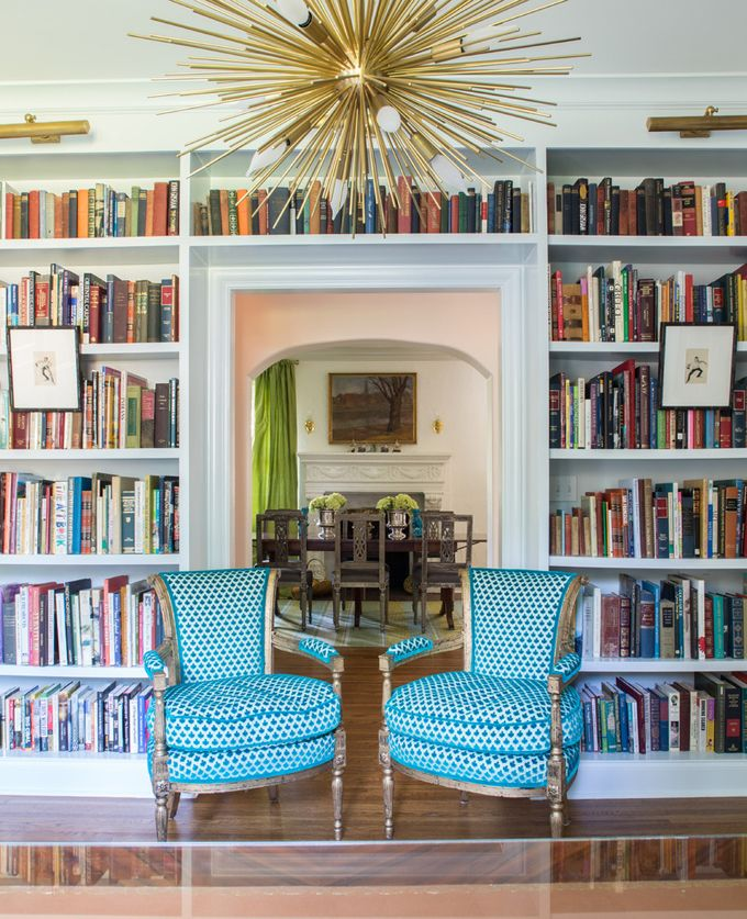 Love this bookcase built around the doorway. House of Turquoise: Jenna Wallis Interior Design