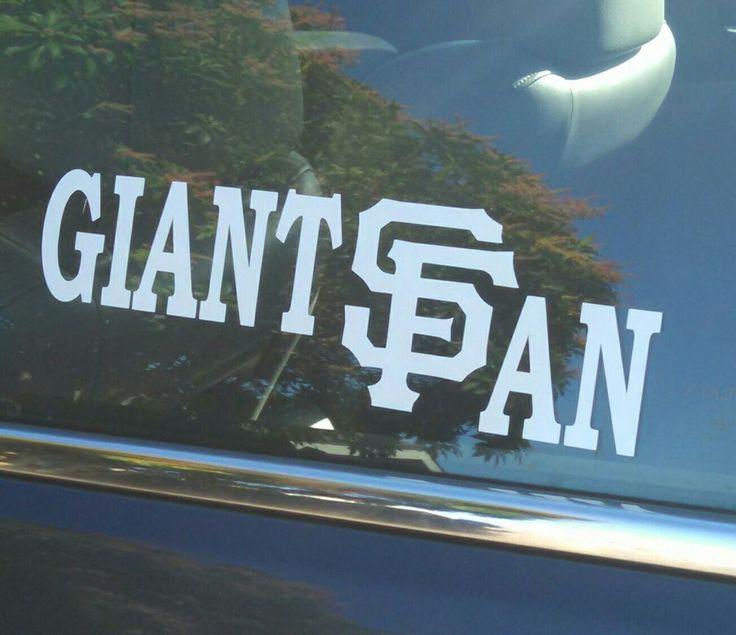 Sf giantssan franciscobaseballteamdecaldie cut vinyl