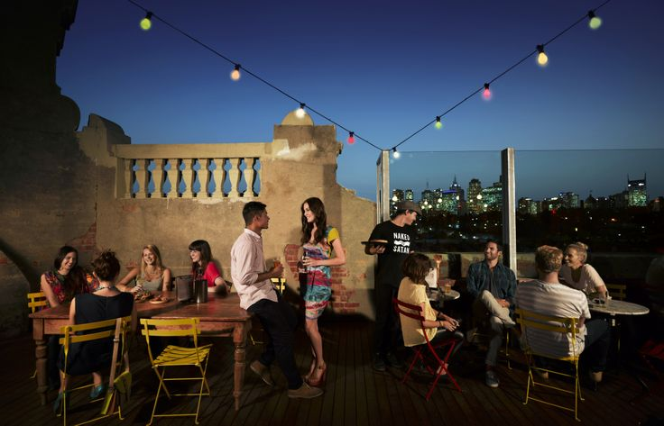 Rooftop terrace at Naked Satan