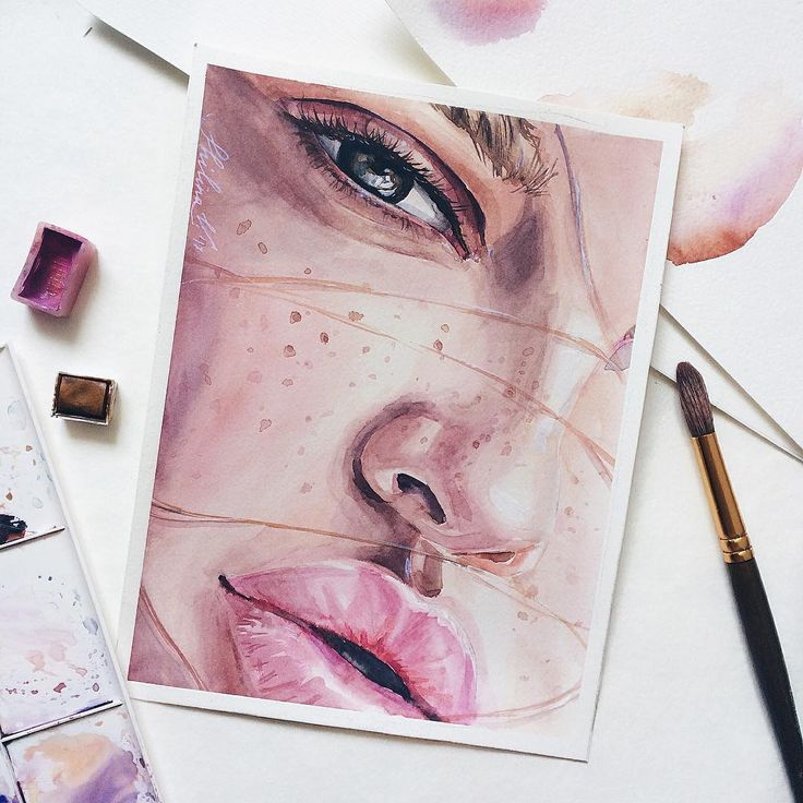 Min Minnah Aquarell Gesicht Aquarellzeichnung Und Aquarell Ideen