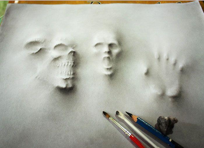 Les terrifiants dessins en 3D de Jerameel Lu - http://www.dessein-de-dessin.com/les-terrifiants-dessins-en-3d-de-jerameel-lu/