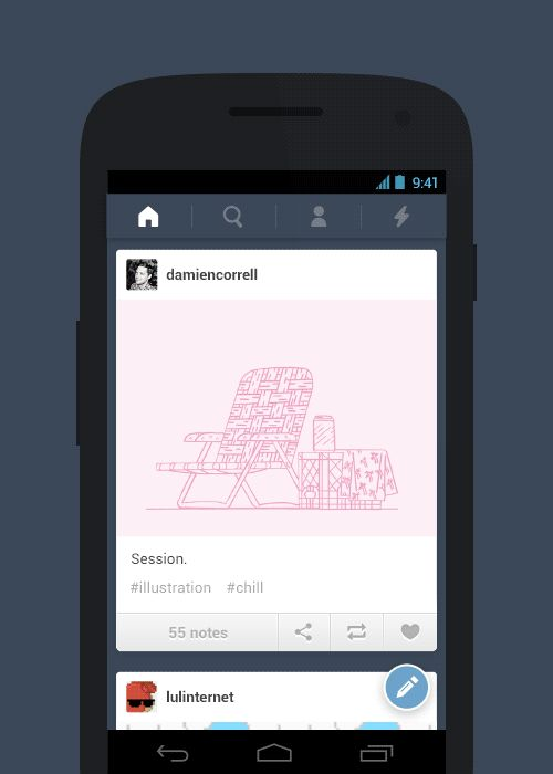 Tumblr for Android Now Supports Landscape Mode and Photosets Read more at: http://www.topapps.net/android/tumblr-for-android-now-supports-landscape-mode-and-photosets.html/