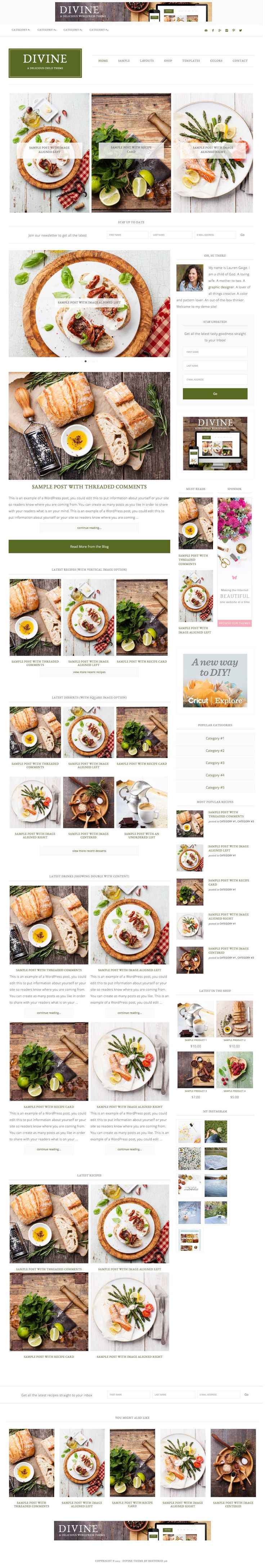 Divine // An Ecommerce Genesis Child Theme - Versatility and Personalization is what we are about! The Divine theme is all that and more! This theme can be used for any genre of blog or site, can be customized to fit your images and style, and completely make it your own!