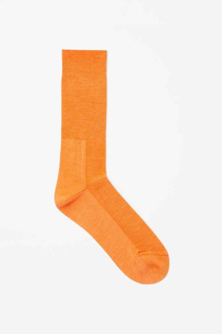 Rib panel socks