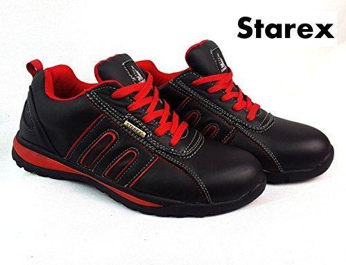 Oferta: 20.7€. Comprar Ofertas de Zapatos de seguridad con puntera de acero para hombre, piel sintética, Red/Black, 7 barato. ¡Mira las ofertas!