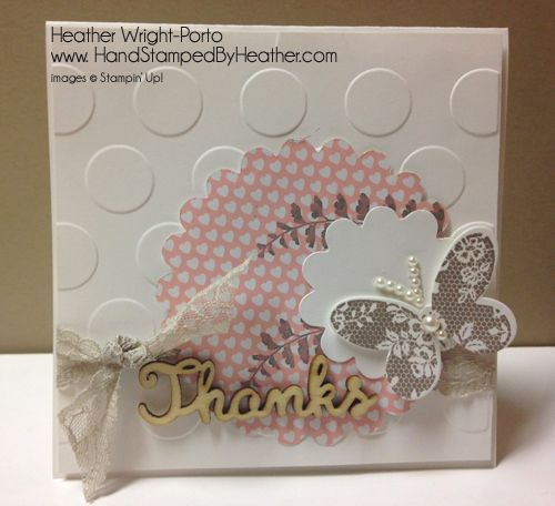 Hand Stamped By Heather, Heather Wright-Porto, Stampin' Up! Demonstrator: Stampin' Up! Butterfly Basics: Happy Stampers Blog Hop