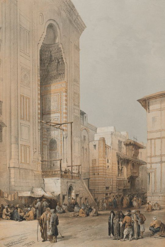 David Roberts - 1849 Egypt and Nubia, Volume III; Grand Entrance to the Mosque of the Sultan Hassan