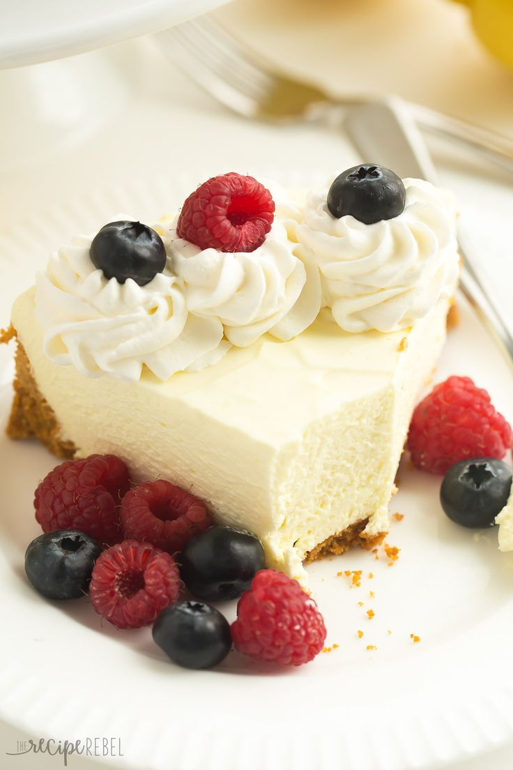(VIDEO) A smooth, extra creamy No Bake Lemon Cheesecake recipe made with lemon juice and lemon zest and no artificial flavors! It's also delicious frozen!