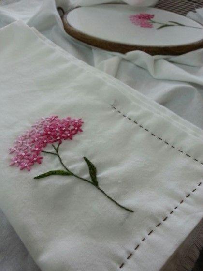 광목 꽃자수 손수건 만들기~~