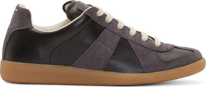 Maison Martin Margiela 'Replica' Low-top Men's Black/Grey Sneakers 6.5 NIB $470 #MaisonMartinMargiela #FashionSneakers