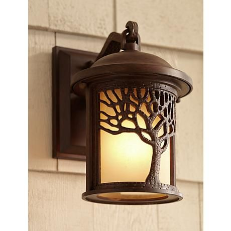 Bronze Mission Style Tree 9 1 2 High Outdoor Wall Light