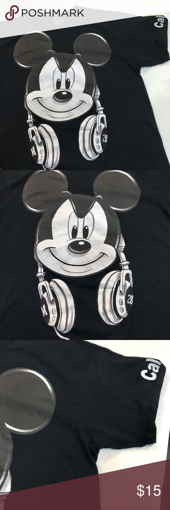 """Mickey Mouse '28 Headphones XL Shirt Disney Up for sale is a new without tags graphic t shirt by Disney. Size XL. Width is 23.5"""" across and length is 28"""". 100% cotton. Awesome shirt. Disney Shirts Tees - Short Sleeve"""