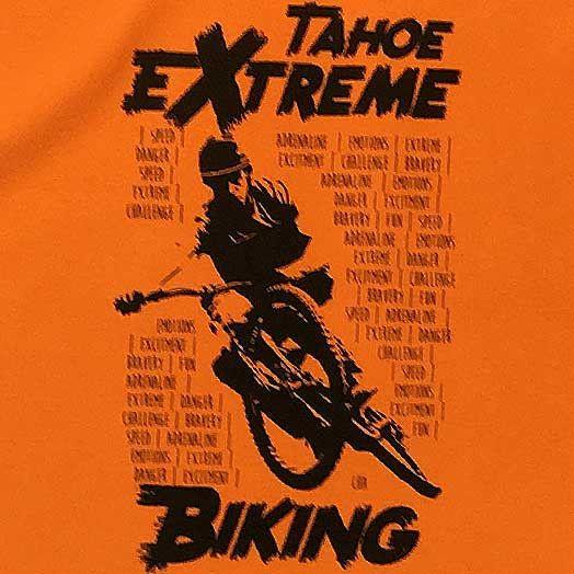 Extreme Biking Orange T-Shirt
