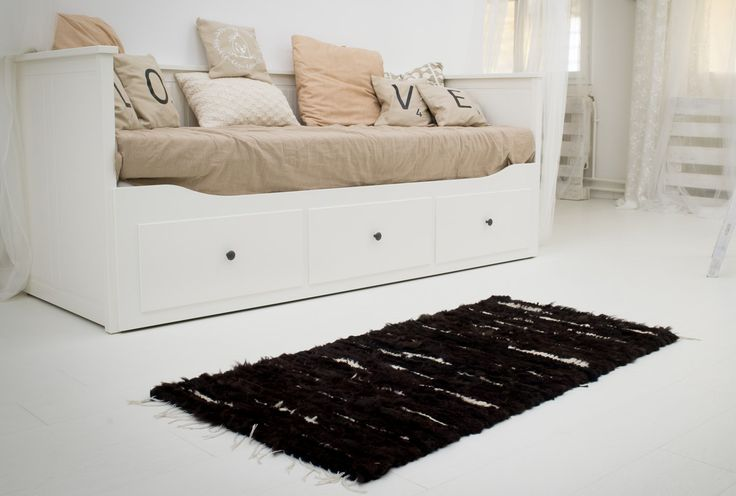 Black-brown sheepskin rug, real natural fur rug, black natural rug, fur throw rug, sheepskin fur by Magicbeanbag on Etsy