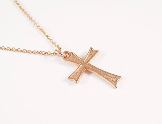 Gold Cross Necklace Cross Necklace Gold Filled Cross